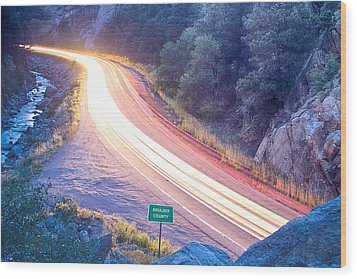 Boulder County Colorado Blazing Canyon View Wood Print by James BO  Insogna