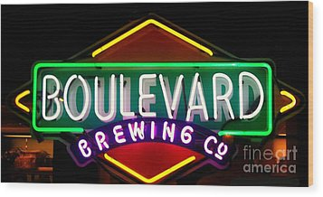 Boulevard Brewing Wood Print by Kelly Awad