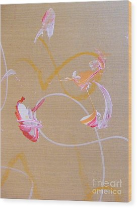 Wood Print featuring the painting Bouquet 5 by Nancy Kane Chapman