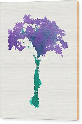 Wood Print featuring the painting Bouquet Abstract 1 by Frank Bright