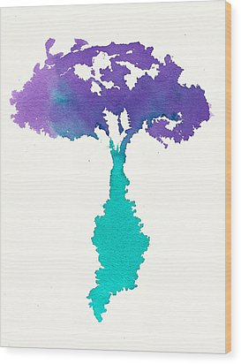 Wood Print featuring the painting Bouquet Abstract 2 by Frank Bright
