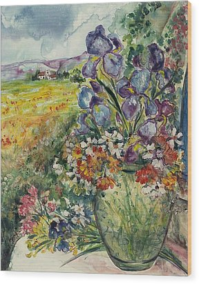 Bouquet De Provence Wood Print