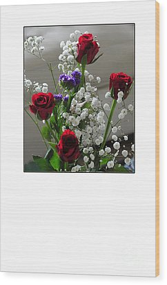 Bouquet In Red White And Blue Wood Print by Randi Grace Nilsberg