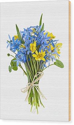 Bouquet Of Fresh Spring Flowers Wood Print by Elena Elisseeva