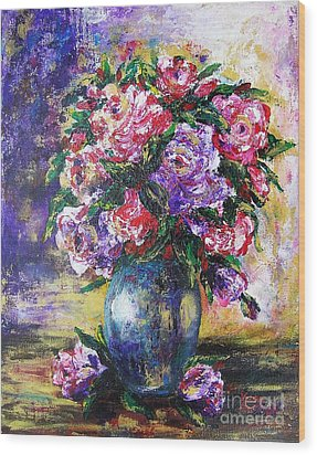 Wood Print featuring the painting Bouquet Of Scents by Vesna Martinjak