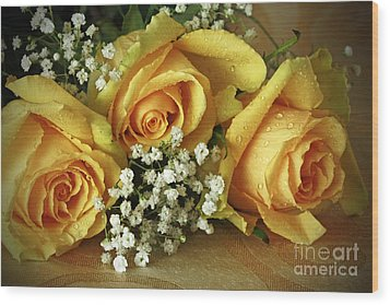 Bouquet Of Sunshine Wood Print by Inspired Nature Photography Fine Art Photography