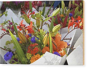 Bouquets Of Color Wood Print by Terry Horstman