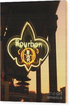 Bourbon Street Bar New Orleans Wood Print by Saundra Myles