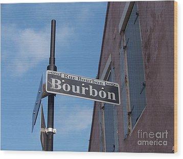 Bourbon Street Wood Print by Kevin Croitz