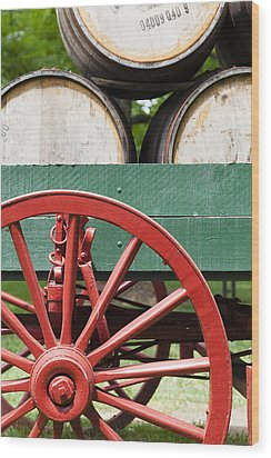 Bourbon Wagon Wood Print