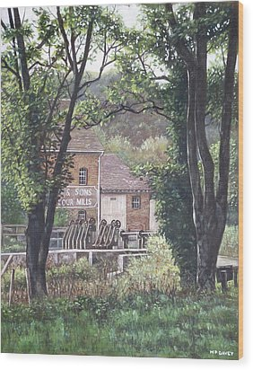 Bournemouth Throop Mill Through Trees Wood Print by Martin Davey