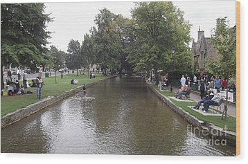 Bourton On The Water Wood Print by John Williams