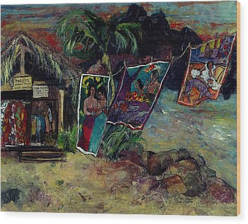 Boutique Gauguin Wood Print