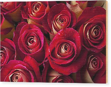 Boutique Roses Wood Print