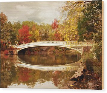 Wood Print featuring the photograph Bow Bridge Reflected by Jessica Jenney