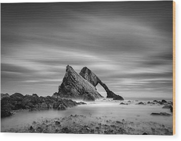Bow Fiddle Rock 2 Wood Print by Dave Bowman