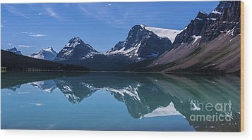 Bow Lake Reflecting Wood Print by Scotts Scapes