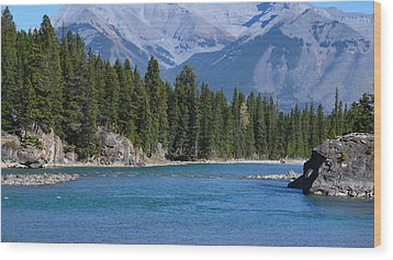 Bow River  Wood Print by Cheryl Miller