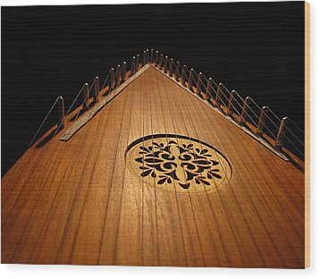 Wood Print featuring the photograph Bowed Psaltery by Greg Simmons