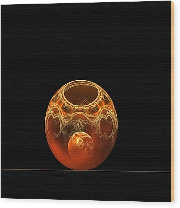Bowl And Orb Wood Print by Richard Ortolano
