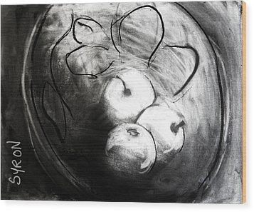 Wood Print featuring the drawing Bowl by Helen Syron