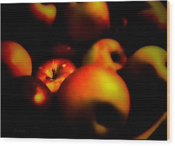 Bowl Of Apples Wood Print by Bob Orsillo