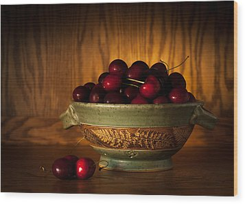 Wood Print featuring the photograph Bowl Of Cherries by Wayne Meyer