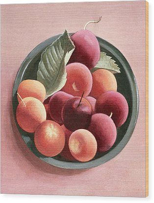 Bowl Of Fruit Wood Print by Tomar Levine
