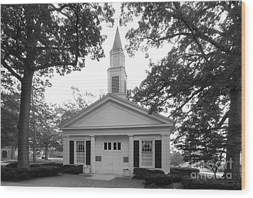 Bowling Green State University Prout Chapel Wood Print by University Icons
