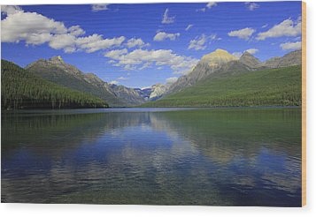 Bowman Lake Montana Wood Print