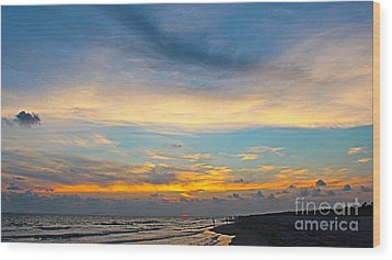 Bowman's Beach Sunset Wood Print