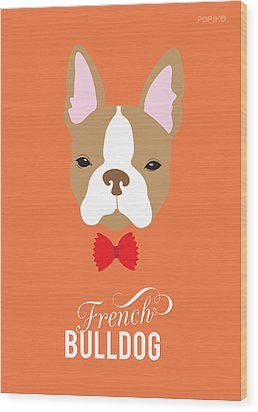 Bowtie Dogs Wood Print by Popiko Shop