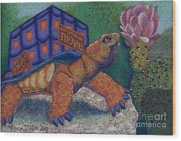 Box Turtle Wood Print by Tracy L Teeter