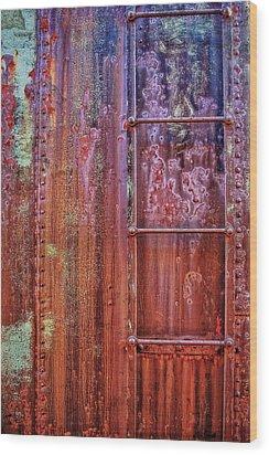 Boxcar Ladder Wood Print by Marcia Colelli