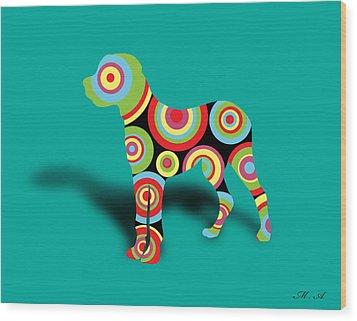Boxer Wood Print by Mark Ashkenazi