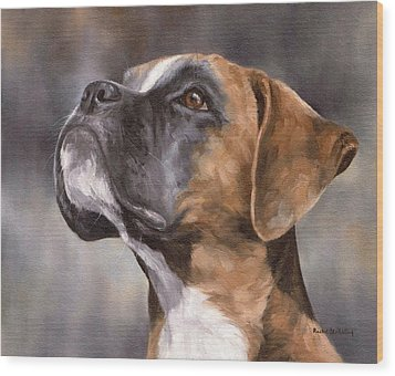 Boxer Painting Wood Print