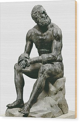 Boxer Seatted. 1st C. Hellenistic Art Wood Print by Everett