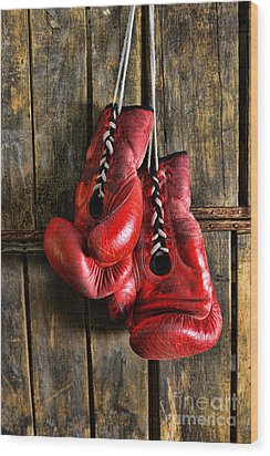 Boxing Gloves - Now Retired Wood Print by Paul Ward