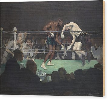 Boxing Match, 1910 Wood Print by George Luks