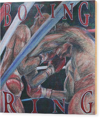 Boxing Ring Wood Print by Kate Fortin