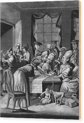 Boycott Of British Tea Wood Print by Granger