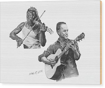 Boyd And Dave Wood Print by Marianne NANA Betts