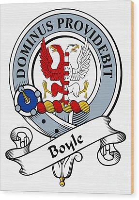 Boyle Clan Badge Wood Print by Heraldry