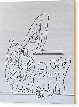 Boys At Play #5 Wood Print