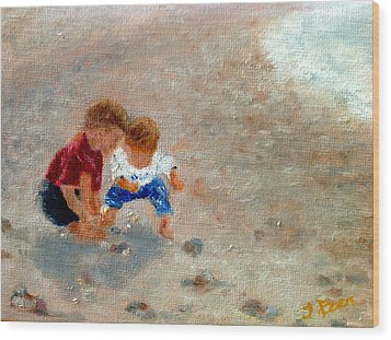 Boys At Play Wood Print