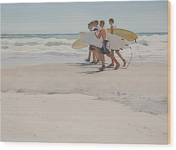 Boys Of Summer Wood Print by Christopher Reid