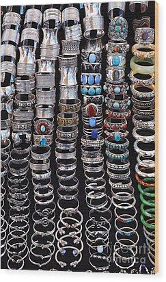 Bracelets At Anjuna Market Wood Print by Robert Preston