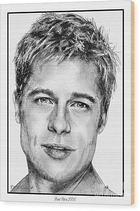 Brad Pitt In 2006 Wood Print by J McCombie