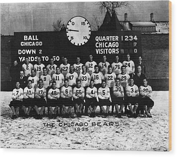 Chicago Football 1935 Wood Print by Retro Images Archive