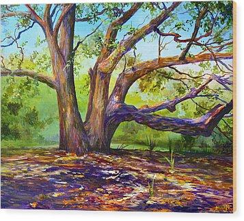 Braided Oak Wood Print by AnnaJo Vahle